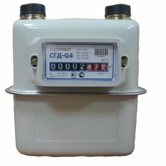 Счетчик газа СГД-G4 ТК справа налево