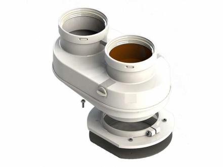 Адаптер моноблочный для перехода с Ø60/100 на Ø80/80 с фланцем (BALTUR)