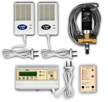 Система загазованности СГК-3-СН4+СО DN 25 с диспетчеризацией котельной на низкое давление
