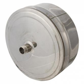 Заглушка с конденсатоотводом  Ø 160 (430/0,5мм) внутренняя